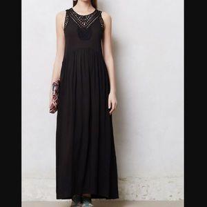Anthropologie Black Maxi Dress Size Small